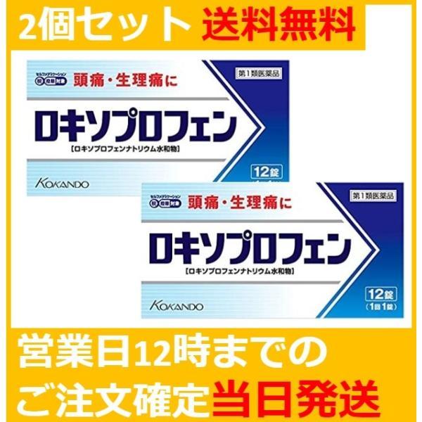 第1類医薬品 12錠ロキソプロフェン錠「クニヒロ」痛み止め「ロキソニン」のジェネリック(後発品)2個セット