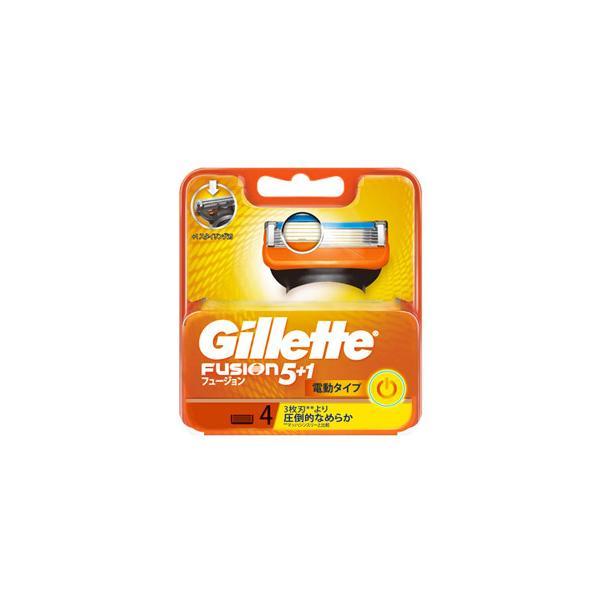 P&G ジレット フュージョン5+1 パワー 替刃 (4個) カミソリ 髭剃り P&G
