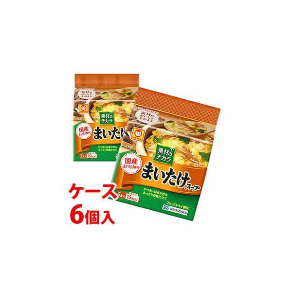 《ケース》 東洋水産 マルちゃん 素材のチカラ まいたけスープ 5食入 (21.5g)×6個 乾燥スープ ※軽減税率対象商品