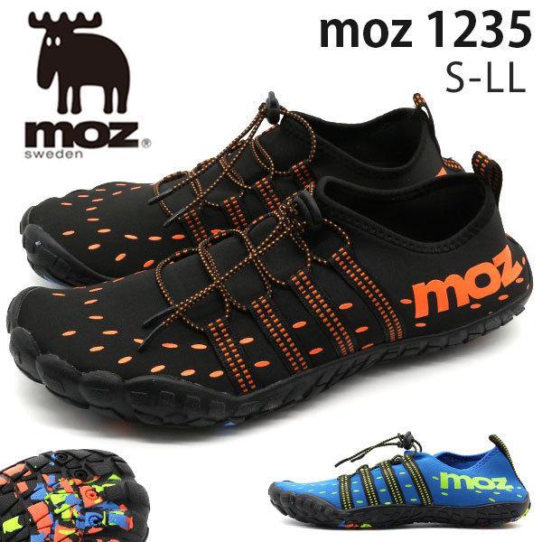 アクアシューズ メンズ 靴 サンダル スリッポン 軽量 軽い 通気性 排水 海 海水浴 人気 おしゃれ モズ moz 1235