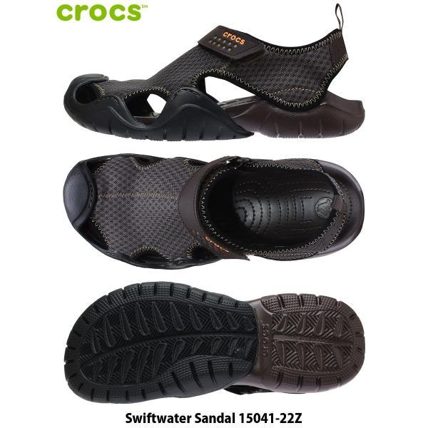 CROCS クロックス サンダル 29cm 30cm 31cm Swiftwater Sandal メンズ 大きいサイズ 15041-22Z|kutsunohikari|02
