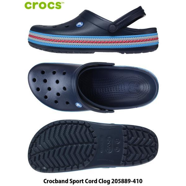 CROCS クロックス サンダル 30cm 31cm CROCBAND SPORT CORD CLOG メンズ 大きいサイズ 205889-410|kutsunohikari|02