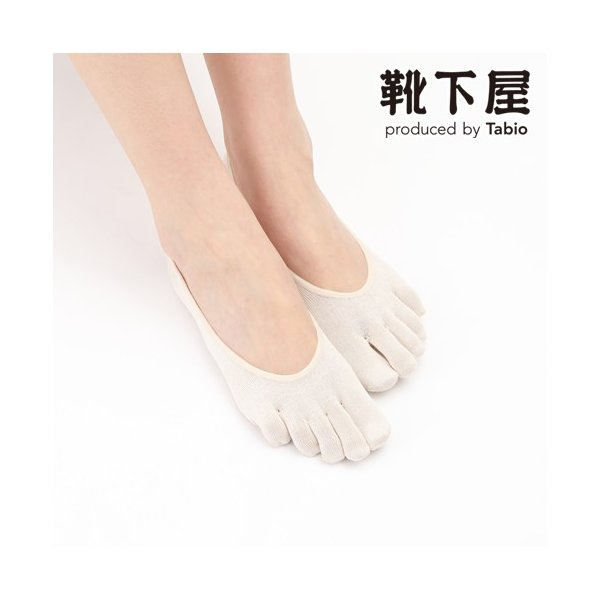 レディース靴下TABIOLEGLABOしっとり絹の5本指カバーソックス22〜24cm気持ちいいシルクの靴下靴下屋タビオ