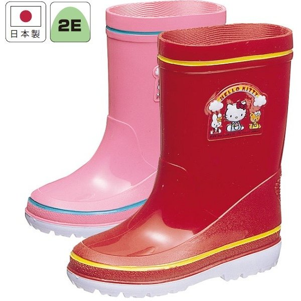 アサヒ レインブーツ R281 ハローキティ キッズ ベビー レッド ピンク 雨靴 長靴 梅雨 通園 通学|kutunchi