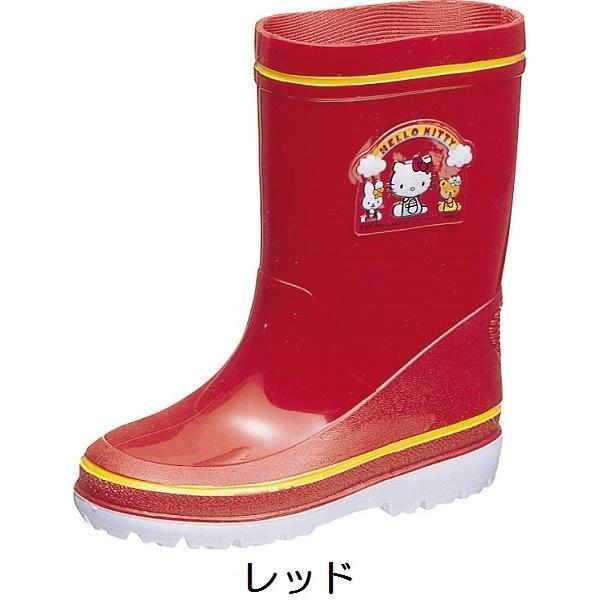 アサヒ レインブーツ R281 ハローキティ キッズ ベビー レッド ピンク 雨靴 長靴 梅雨 通園 通学|kutunchi|02