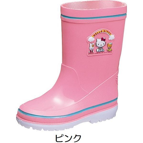 アサヒ レインブーツ R281 ハローキティ キッズ ベビー レッド ピンク 雨靴 長靴 梅雨 通園 通学|kutunchi|03