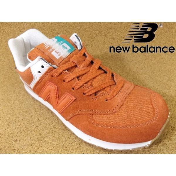 ニューバランス new balance WL574-SEA(B) オレンジ│婦人 22.0cm〜26.5cm|kutuya