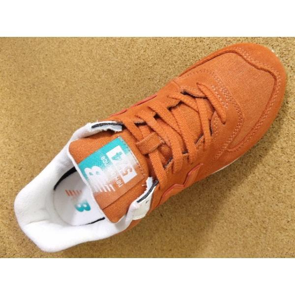 ニューバランス new balance WL574-SEA(B) オレンジ│婦人 22.0cm〜26.5cm|kutuya|03