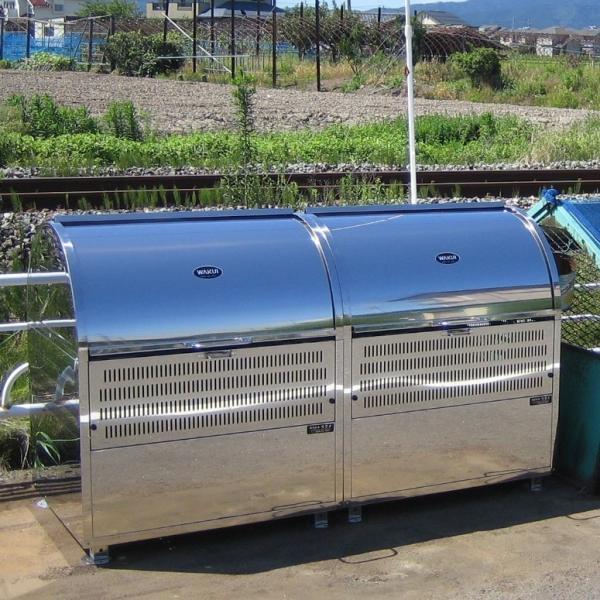 【CR-600 330L】ゴミステーション 町内会 集合住宅 店舗 大型ゴミ箱 屋外 スライド式 ステンレス 環境ステーションCR-600 330L 幅600mm kwakui 05