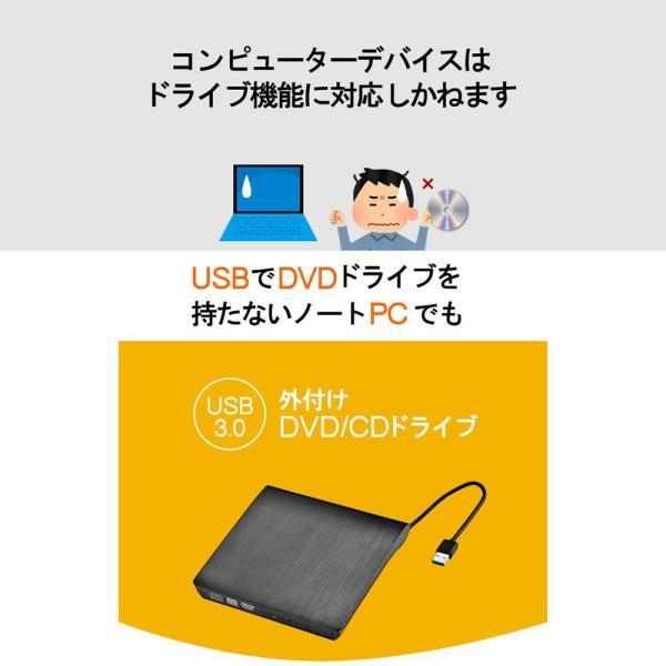 DVDドライブ CDドライブ 12ヶ月品質保証 外付け Windows10対応 USB 3.0 CD-RW DVD-RW MAC os 書き kwelfare 03