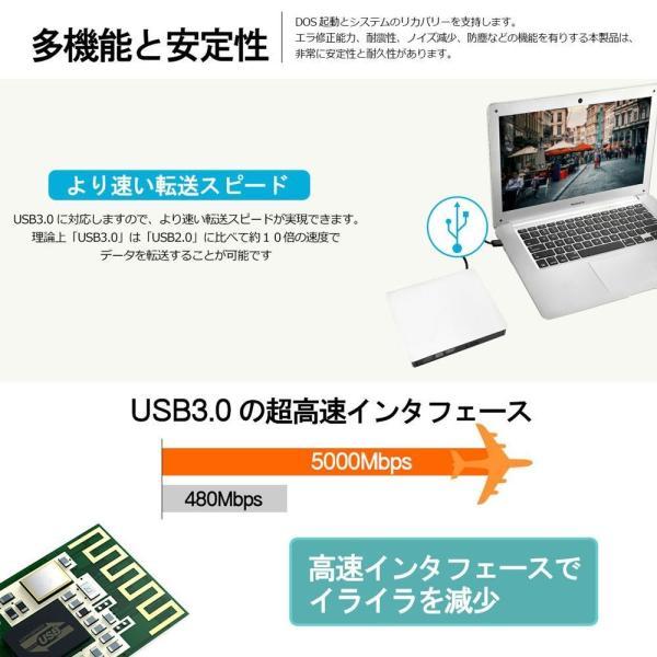 DVDドライブ CDドライブ 12ヶ月品質保証 外付け Windows10対応 USB 3.0 CD-RW DVD-RW MAC os 書き kwelfare 04
