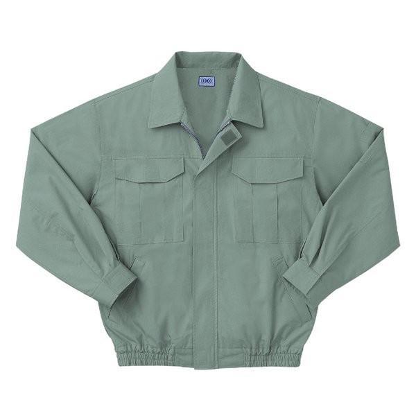空調服 綿薄手長袖作業着 M-500U 〔カラーモスグリーン: サイズXL〕 電池ボックスセット kwelfare