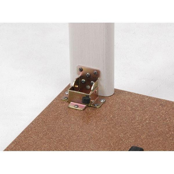 カジュアルこたつテーブル/折れ脚テーブル 本体 〔正方形 幅60cm〕 リバーシブル天板 オールシーズン対応 木目調〔代引不可〕