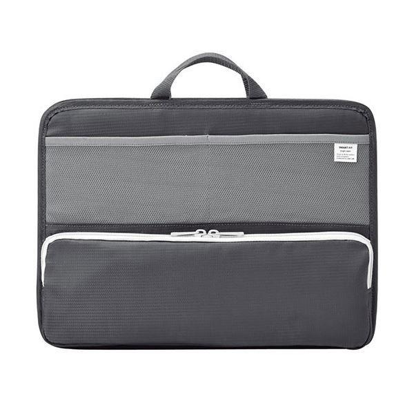 (まとめ)リヒトラブ SMART FITbright label スタンドポケット (ヨコ型) A4 ブラック A-7664-24 1個〔×2セット〕