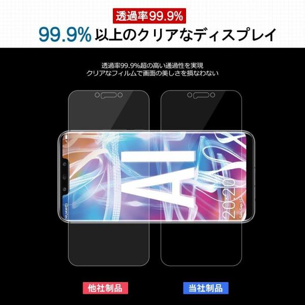 Huawei Mate 20 lite ガラスフイルム 日本製素材 硬度9H?厚さ0.33mm 飛散防止 指紋防止?高感度タッチ 高透過率|kwelfare|06