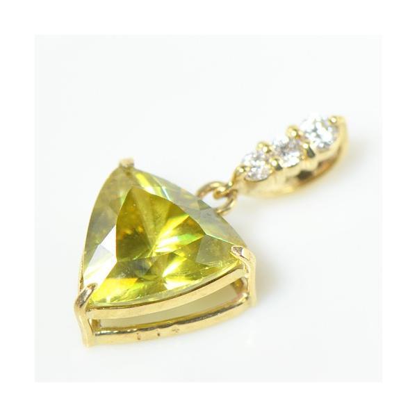 ペンダント ヘッド  上質レインボー スフェーン×ダイヤモンド K18イエローゴールド  YK-AT033-1812CI
