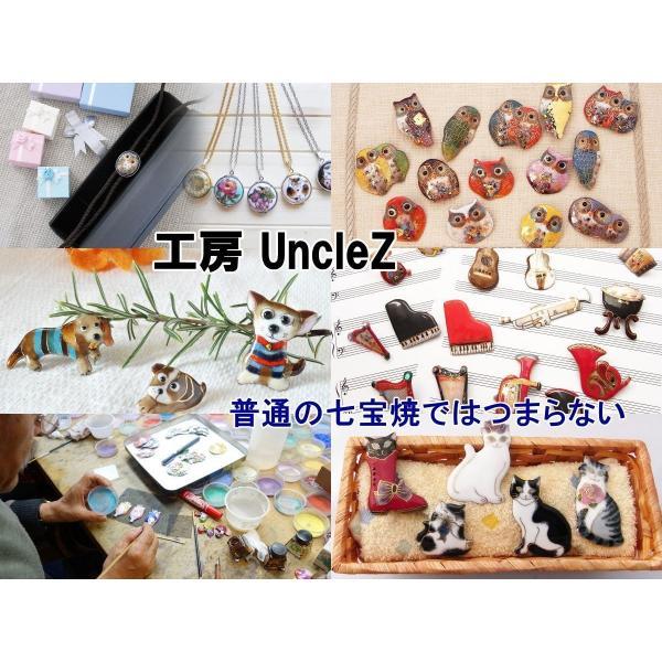 【UncleZ】 七宝焼き 鳥 ブローチ(8)