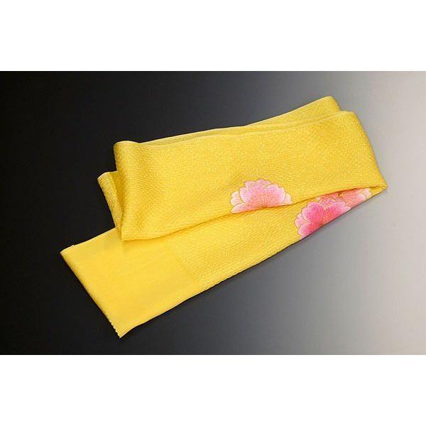 振袖用-膨れ織帯揚げ  桜刺繍入り nmo3010 クリーム地  【パンフレット掲載柄】