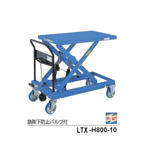 をくだ屋技研 手動式リフトテーブルキャデ LTX−H800−10
