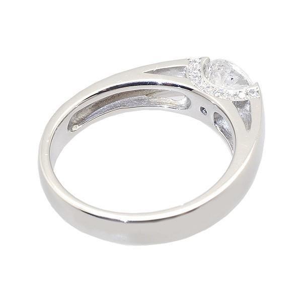 ダイヤモンド リング 指輪 プラチナ 1ctUP Dカラー SI2UP エクセレントカット 鑑定書付き タンクリング