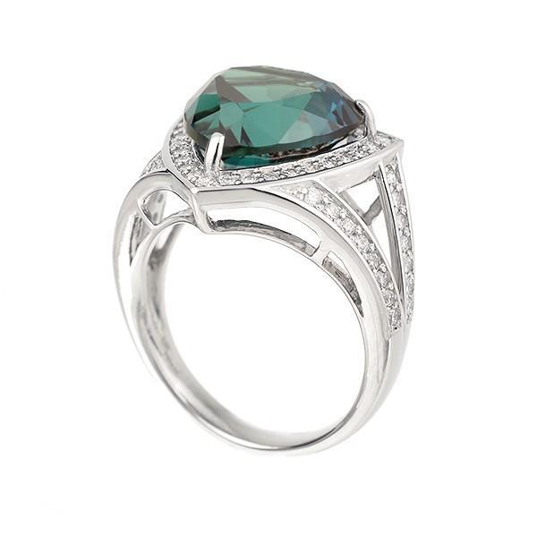アレキサンドライト リング 指輪 プラチナ 40周年記念商品 トリリアントカット 6月誕生石 プレゼント クレサンベール 京セラ