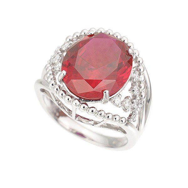 ルビー リング 指輪 プラチナ 7.2カラット オーバル 7月誕生石 プレゼント クレサンベール 京セラ