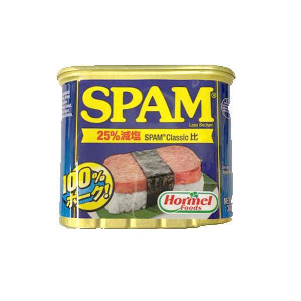 ホーメル スパム 25%レスソルト 340g HORMEL FOODS SPAM 20% LESS SALT 340GR 【非常食】【保存食】【長期保存】