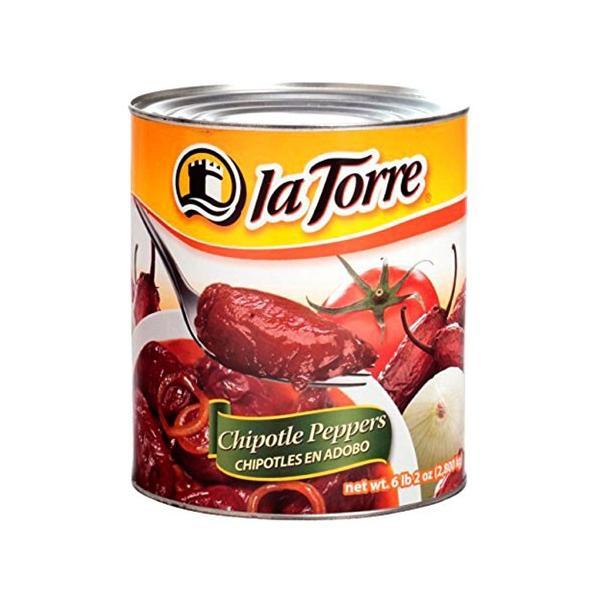 チポトレペッパー 缶詰 la Torre 800g Chipotle Peppers CHIPOTLES EN ADOBO【缶詰 セット】【非常食】【保存食】【長期保存】