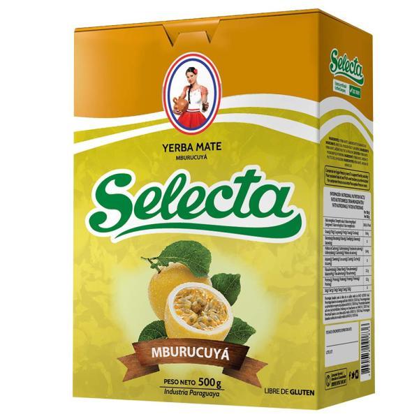 グリーンマテ茶(パッションフルーツ)セレクタ SELECTA YERBA MATE MBURUCUYA 500g 【非常食】【保存食】【長期保存】【H05】