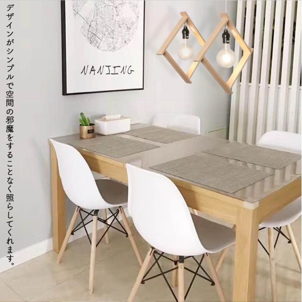 ペンダントライト E26 LED電球対応 木枠 シーリングライト 食卓 居間 キッチン 玄関 トイレ 洋風 北欧  ナチュラル モダン ホワイト 電球別売り|kyodo-store|07
