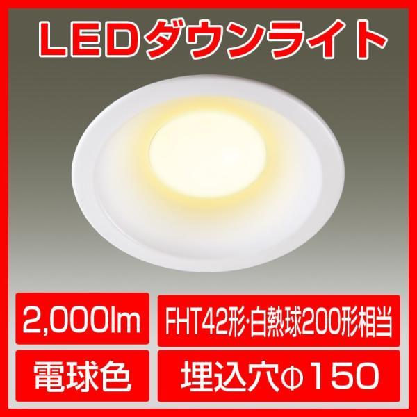 LEDダウンライト 電球色 HFT42W形 200形電球相当 天井 照明器具 拡散 インテリア 埋込 廊下 通路 おしゃれ kyodo-store