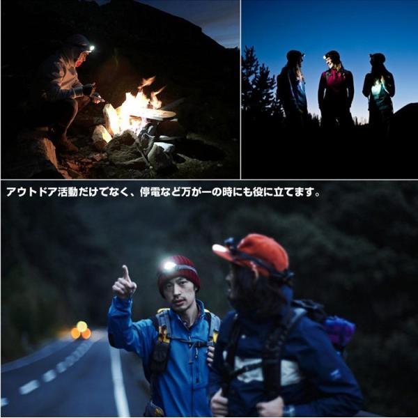 ヘッドライト LED 充電式 500lm IPX4 防水  懐中電灯 センサー点灯 ヘッドランプ 釣り 登山 自転車 ハイキング 災害対策 コンパクト 長持ち|kyodo-store|12
