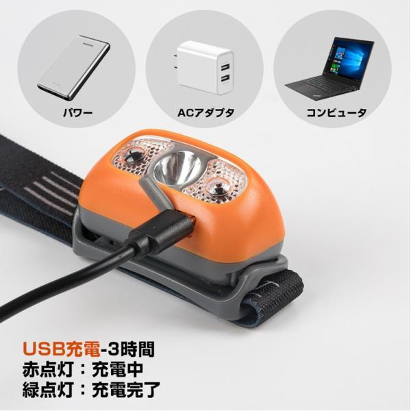 ヘッドライト LED 充電式 500lm IPX4 防水  懐中電灯 センサー点灯 ヘッドランプ 釣り 登山 自転車 ハイキング 災害対策 コンパクト 長持ち|kyodo-store|05