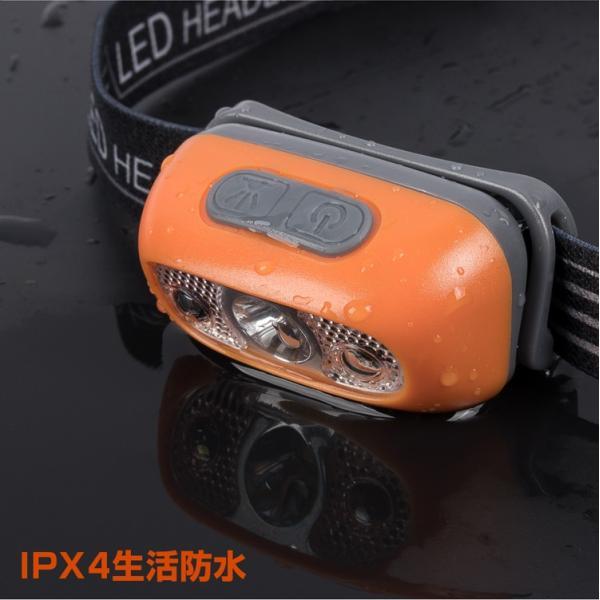 ヘッドライト LED 充電式 500lm IPX4 防水  懐中電灯 センサー点灯 ヘッドランプ 釣り 登山 自転車 ハイキング 災害対策 コンパクト 長持ち|kyodo-store|09
