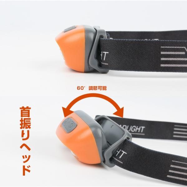 ヘッドライト LED 充電式 500lm IPX4 防水  懐中電灯 センサー点灯 ヘッドランプ 釣り 登山 自転車 ハイキング 災害対策 コンパクト 長持ち|kyodo-store|10