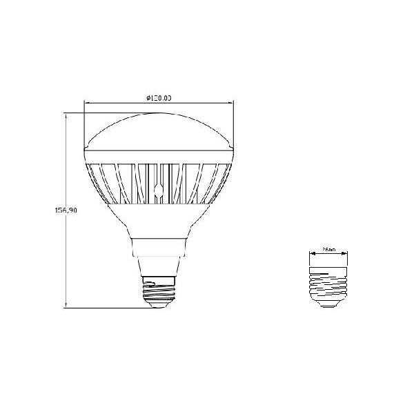 屋内・屋外兼用 LED電球 E26 防水 LED水銀灯 160W形相当 看板照明 反射形 LED|kyodo-store|03