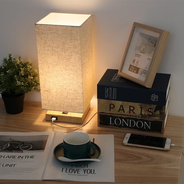 テーブルランプ フロアスタンドライト 電気スタンド LED対応 E26 1灯 スタンドランプ  木製 麻 フロアライト 和風 ベッドサイドランプ 寝室 和室 コンパクト|kyodo-store|11