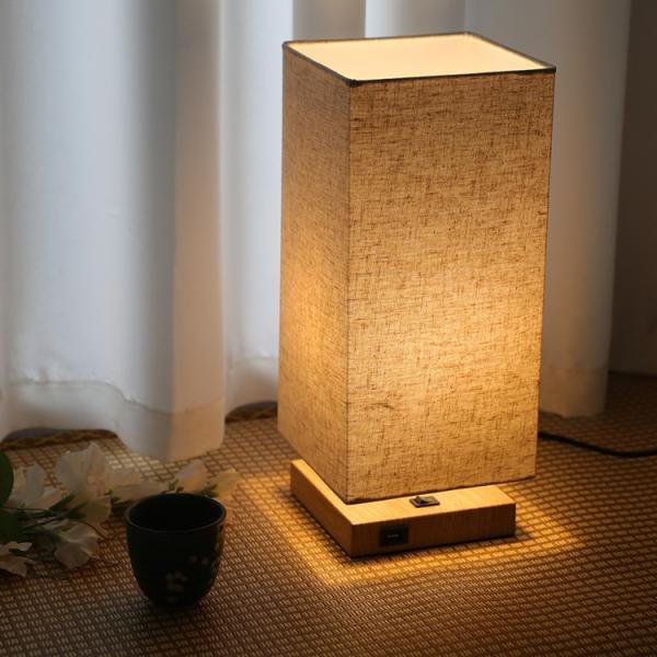 テーブルランプ フロアスタンドライト 電気スタンド LED対応 E26 1灯 スタンドランプ  木製 麻 フロアライト 和風 ベッドサイドランプ 寝室 和室 コンパクト|kyodo-store|12