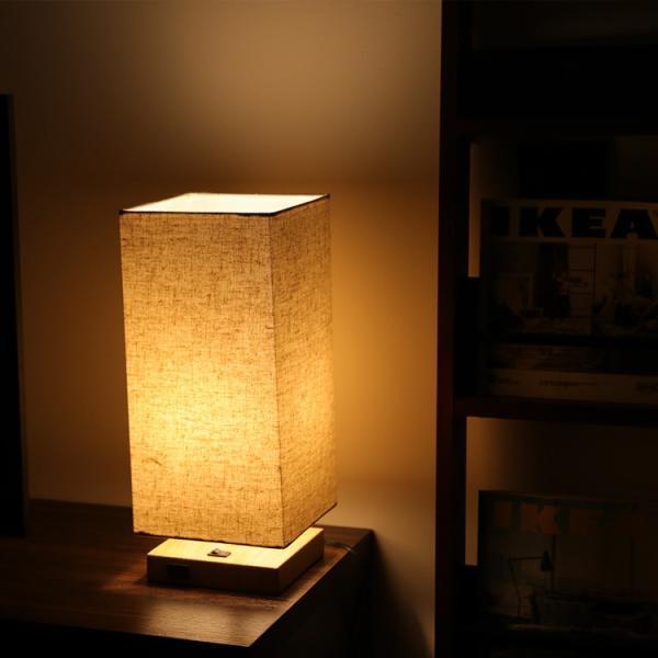 テーブルランプ フロアスタンドライト 電気スタンド LED対応 E26 1灯 スタンドランプ  木製 麻 フロアライト 和風 ベッドサイドランプ 寝室 和室 コンパクト|kyodo-store|13