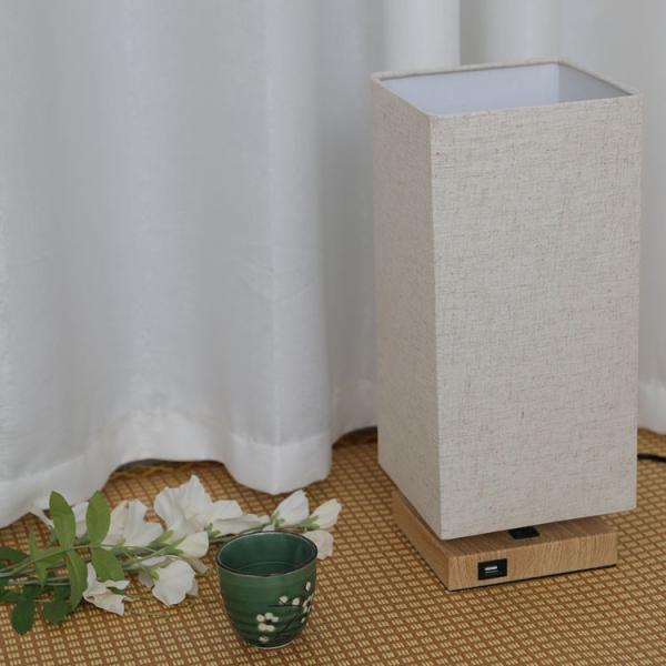 テーブルランプ フロアスタンドライト 電気スタンド LED対応 E26 1灯 スタンドランプ  木製 麻 フロアライト 和風 ベッドサイドランプ 寝室 和室 コンパクト|kyodo-store|03