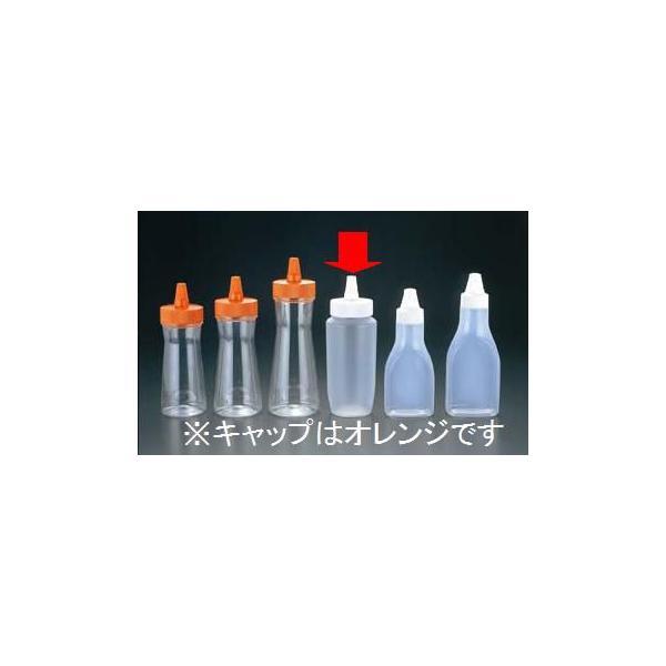ディスペンサー ドレッシングなど 容量410ml ドレッシングボトル(ネジキャップ式) HPP-360 オレンジ(EBM21-1)(528-18)