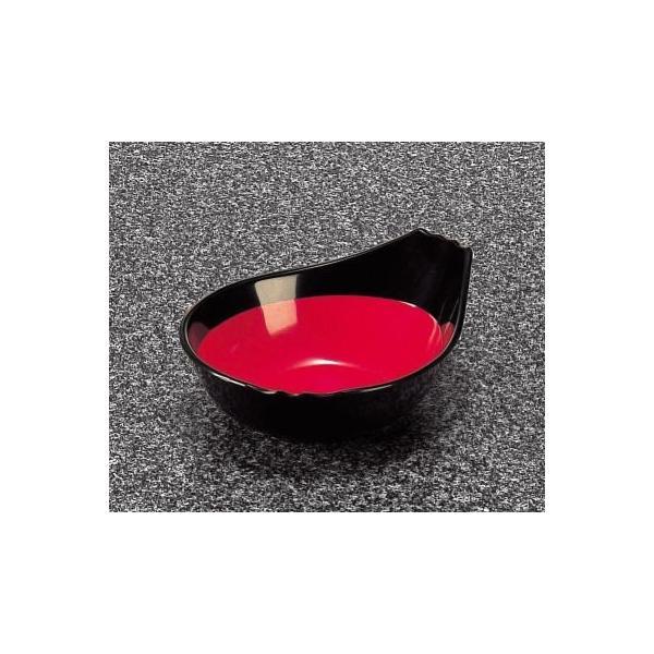 メラミン 和風食器アイテム ポンズ入 黒内朱 (133×105×47mm・180cc) マンネン/萬年[642-BR] 業務用 プラスチック製