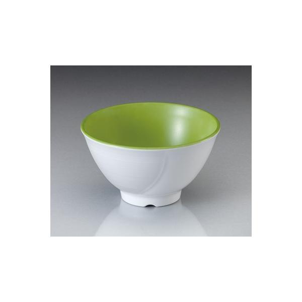 メラミン テラス ライスボール・中  ピクルスグリーン(124×H69mm・410cc) マンネン/萬年[PG-901] 業務用プラスチック食器