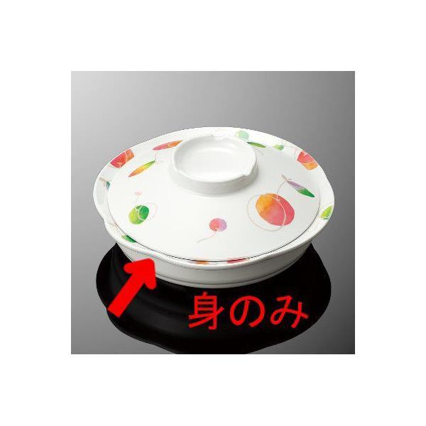 メラミン 丸深皿 小 直径166mm H40mm 470cc 身(ふたは別売り) さくらんぼ コモン[S73BSRB] マルケイ  食洗機対応 業務用 プラスチック 樹脂 食器 皿 D8