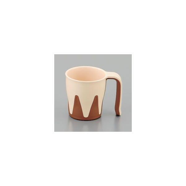 ※欠品中※介護 自助食器 でんでんマグカップ ブラウン(110×81×87 280ml) 三信化工[UPC-181NBR]