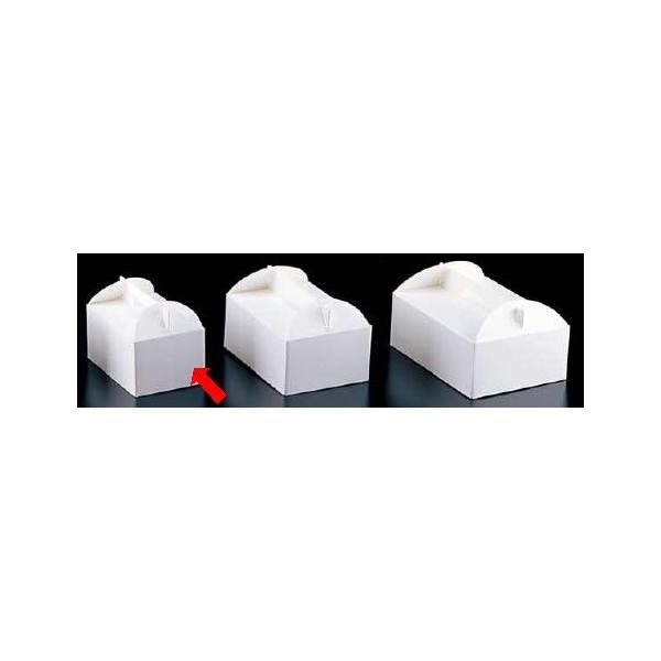 製菓用品・ラッピング ショートケーキボックス 18cm エコ洋生 キャリーボックス DE-51 3号(200枚入) (8-1099-1201)