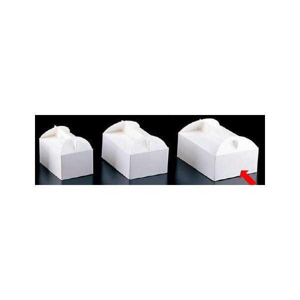 製菓用品・ラッピング ショートケーキボックス 24cm エコ洋生 キャリーボックス DE-53 5号(200枚入) (8-1099-1203)