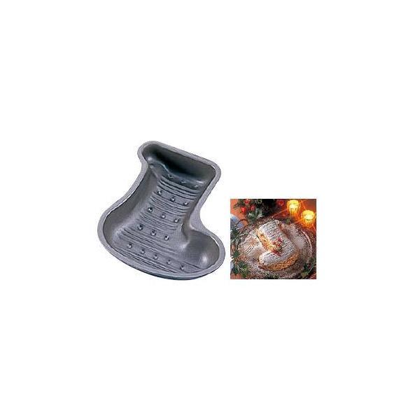 製菓用品・スポンジケーキ型 お菓子作り・道具 20cm ブラック・フィギュア ケーキ焼型 プレゼントソックス D-082 (8-1048-0901)