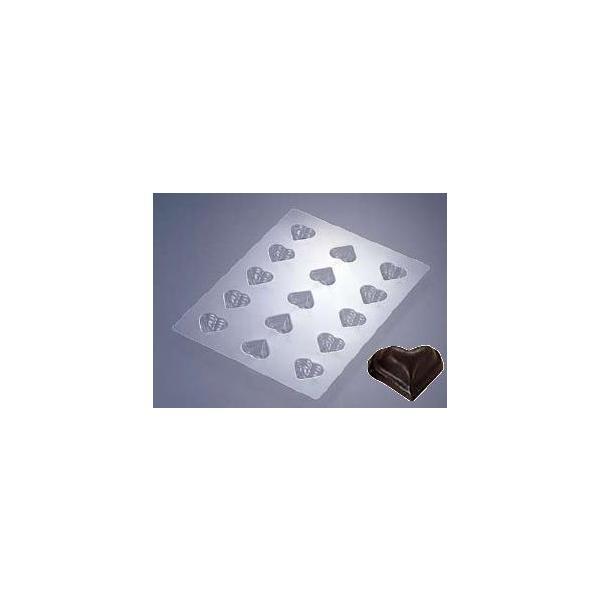 製菓用品・チョコレート型 ハート型のチョコレートが1度にたくさん作れます♪ チョコレートモールド ハートプレーン No.1925 (8-1020-0501)