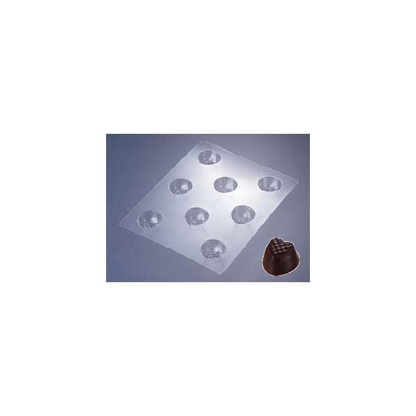 製菓用品・チョコレート型 お菓子作り・道具 ハート型のチョコレートが作れます♪ チョコレートモールド ハートチェック No.1927 (8-1020-0701)
